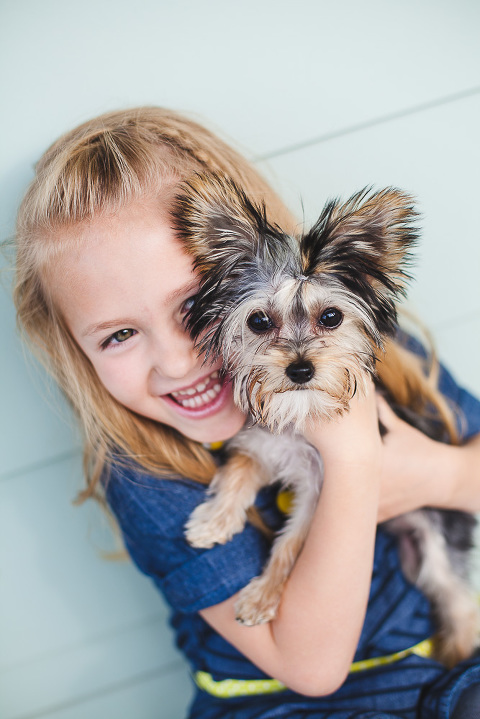 South Jordan Utah young girl with Yorkie