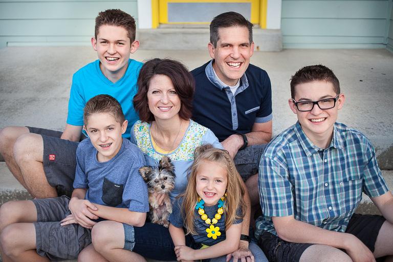 family close up portrait in South Jordan Utah