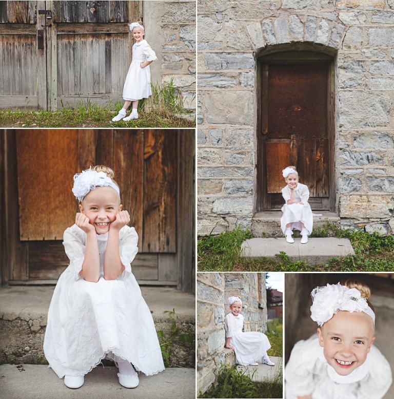 Girl baptism portraits Utah
