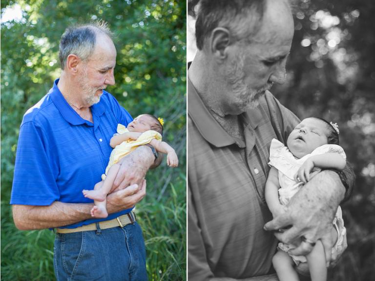 Grandpa and newborn DUO