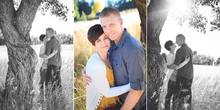 Logan engagement photos trio